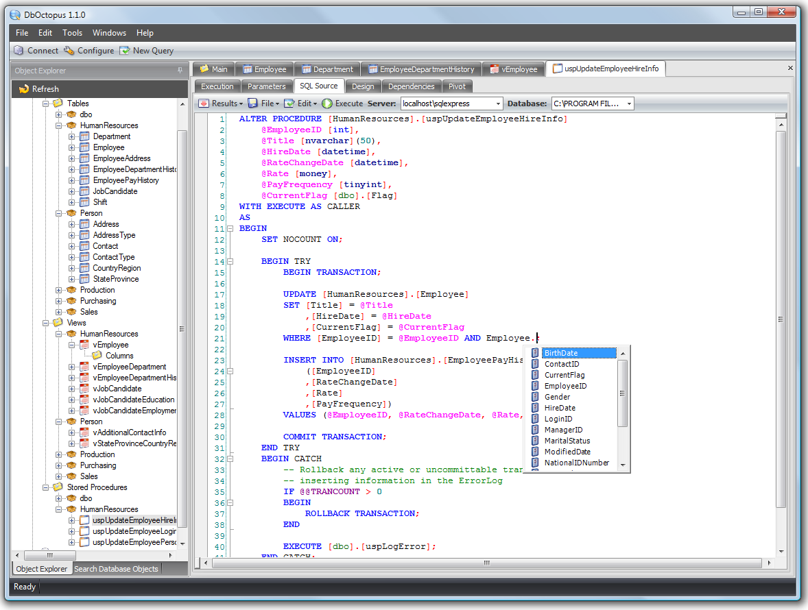 Dboctopus Powerful Data Editing For Sql Server